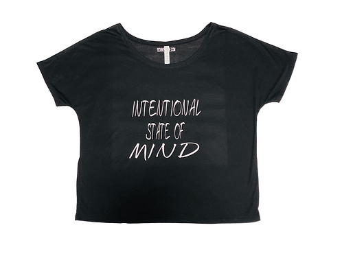 Intentional State Of Mind Ladies Slouchy Off Shoulder Shirt