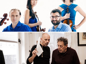Chiara String Quartet gives New York premiere of Philip Glass' Piano Quintet in final major perf