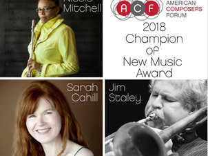 Pianist Sarah Cahill receives 2018 Champion of New Music Award from American Composers Forum