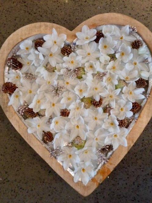 Divalogical 100% biodegradable heart-shaped pad base