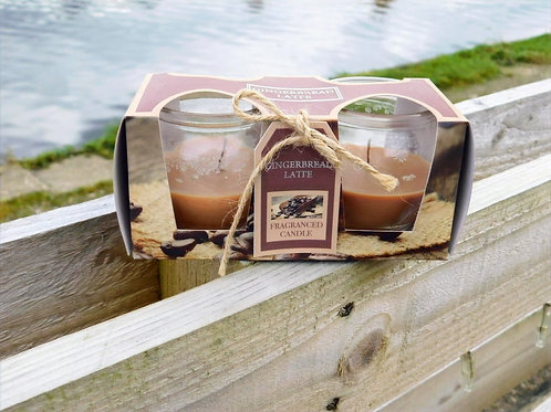 Spiced scented candles, set of two
