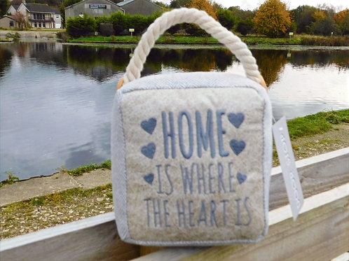 Home is where the heart is doorstop