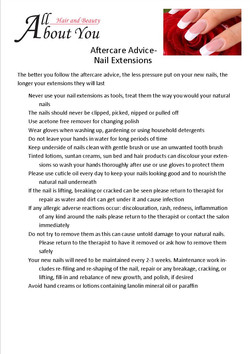 aftercare advice nail extensions