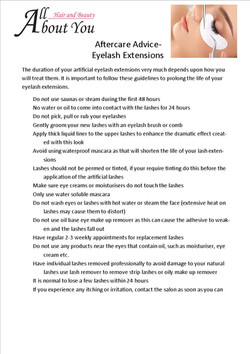 aftercare advice eyelash extensions
