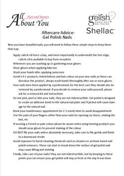 aftercare advice gel polish nails