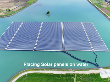 Placing Solar panels on water