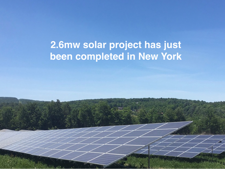 2.6mw solar project has just been completed in New York