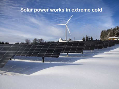 Solar power works in extreme cold