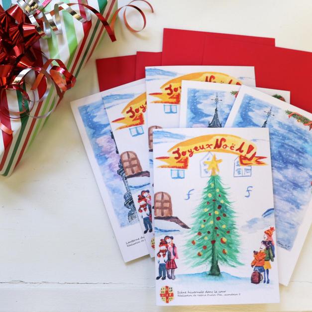 Ensemble de Cartes de Noël