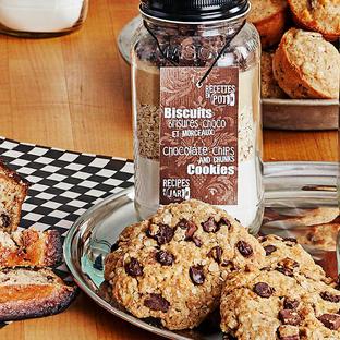 Biscuits aux brisures et morceaux chocolat