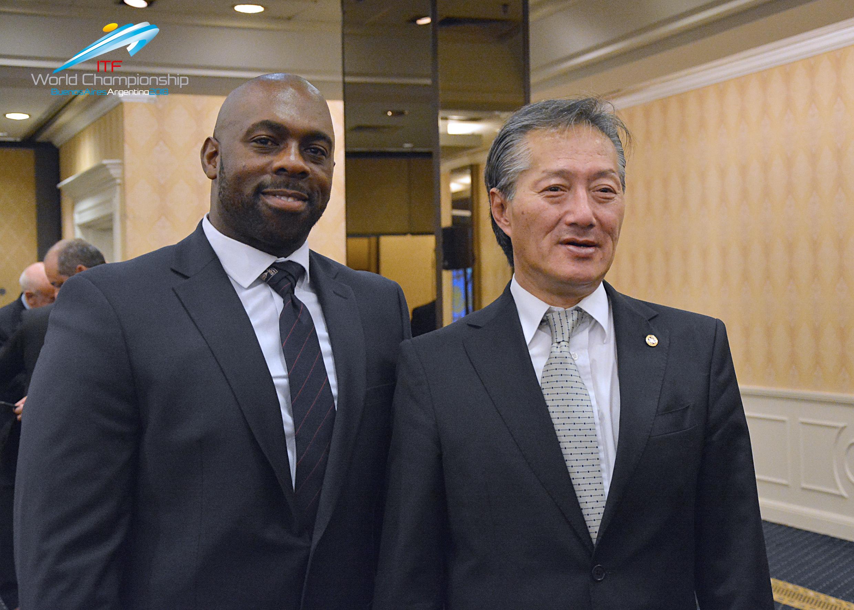 ITF Pres. Choi & INO VP Mr. El Bey