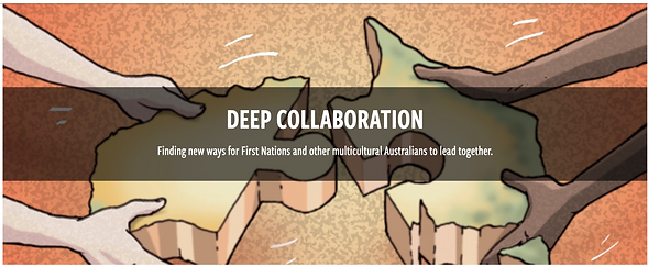 Deep Collaboration. Mark Yettica-Paulson is the Practice Lead, as part of Collaboration for Impact.
