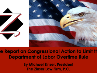 Congressional Action to Limit the U.S. DOL Overtime Rule
