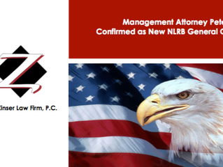 Management Attorney Peter Robb Confirmed as New NLRB General Counsel