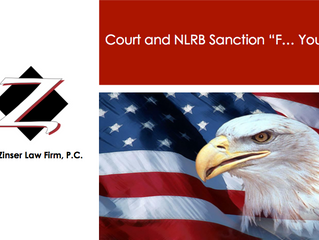 "Court and NLRB Sanction ""F--- You"" Post"