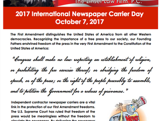 2017 International Newspaper Carrier Day