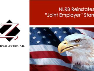 """NLRB Reinstates Prior """"Joint Employer"""" Standard"""