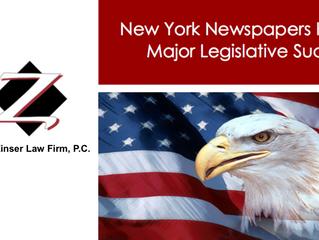 New York Newspapers Have Major Legislative Success