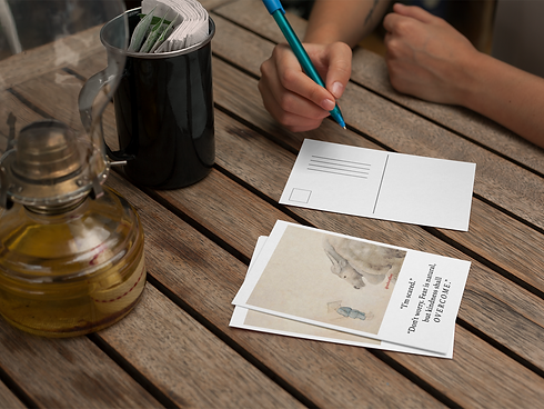 girl-about-to-write-on-a-postcard-mockup