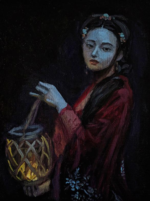 Young Woman at Night