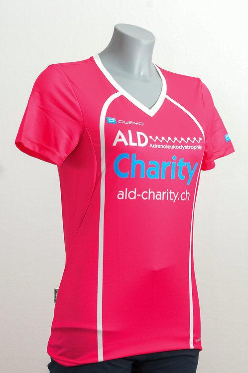 Kurzarm Shirt Pink Dame