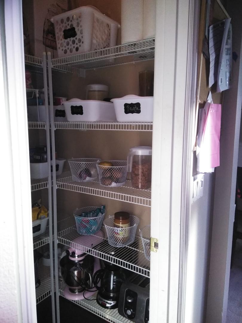 A de-cluttered Pantry