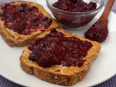 Mixed Berry Jam with Chia seeds, no sugar added