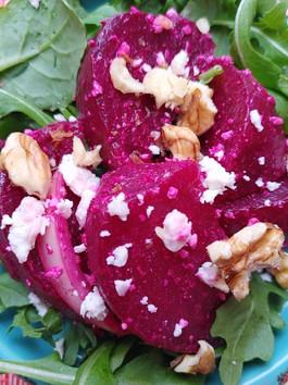 Walnut Feta Beet Salad