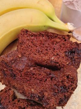 High Protein & Fibre, Wheat-Free Chocolate Banana Bread