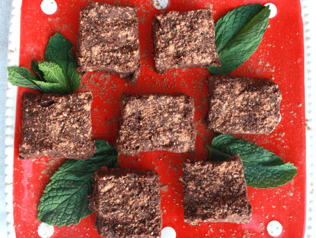 No Bake Black Bean Mint Brownies, Vegan, Gluten-free