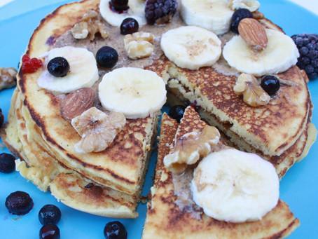 Grain-Free Cinnamon Pancakes, high-protein, gluten-free