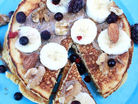 Grain-Free High Protein Cinnamon Pancakes