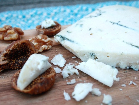 Blue Goat Gouda with Figs and Walnuts