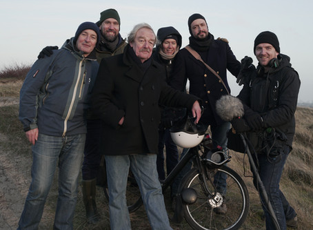 Filming on Wadden Isles with biologist Midas Dekkers for Dutch TV series
