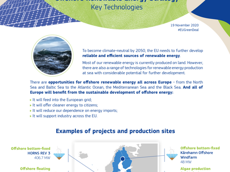 Oceans of Energy was listed as one of the EU Offshore Renewable Energy Strategy Key Technologies.