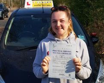 driving student who passed first time