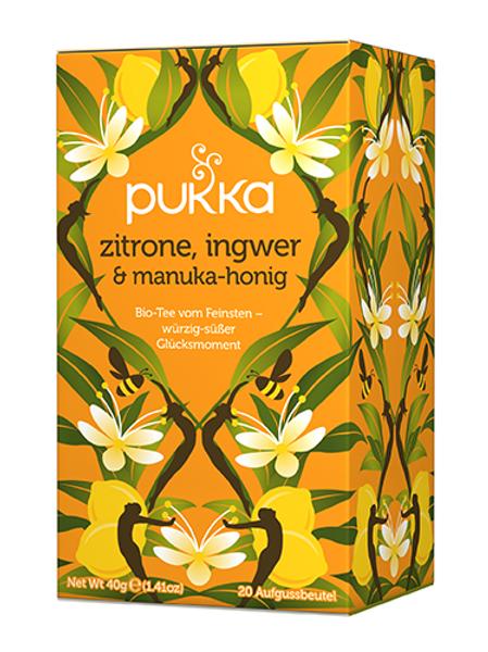Pukka Zitrone Ingwer & Manuka Honig