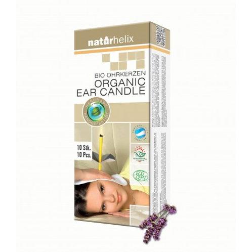 Kopie von Naturhelix BIO Ohrkerzen Lavendel 10er Pack