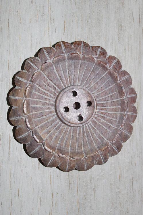 Halter für Räucherstäbchen Lotusform aus Stein