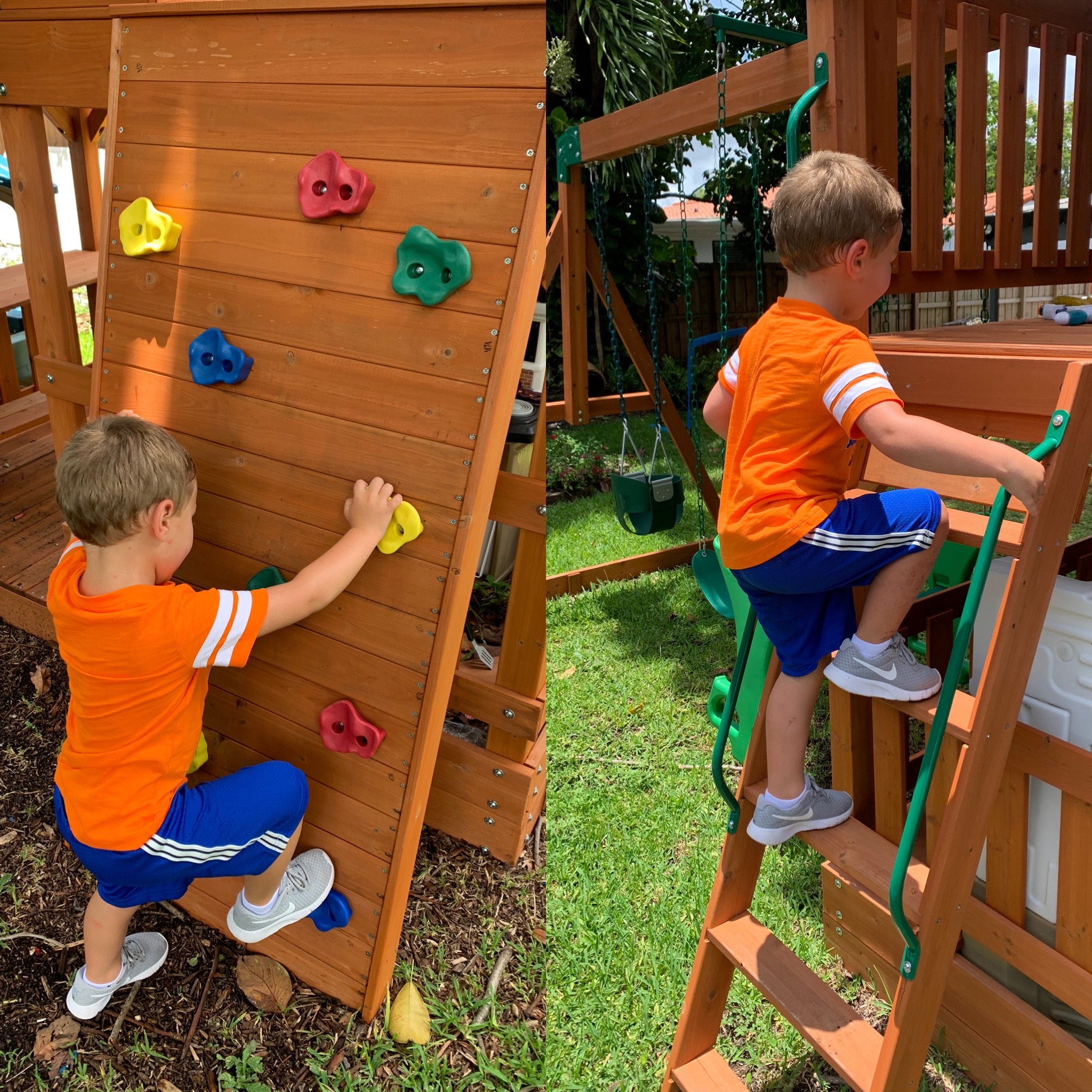 Climbing wall & ladder!