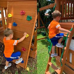 Climbing wall & ladder!