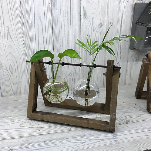 Two Pot Wooden Stand