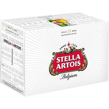 Stella 18 pack (12oz bottles)