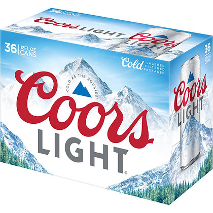 Coors Light 36pk 12 oz cans.