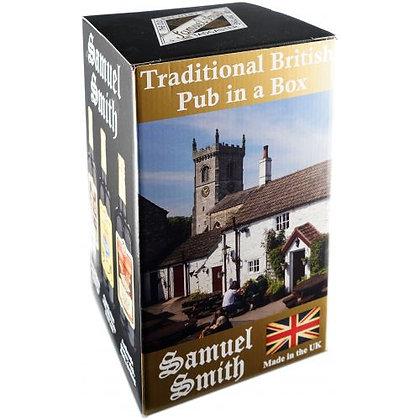 Traditional british pub in box
