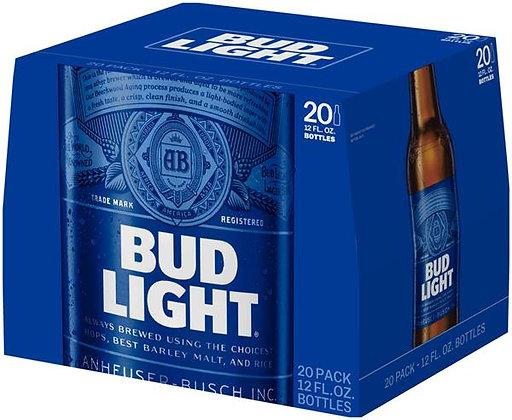 Bud Light 20 pack (12oz bottles)