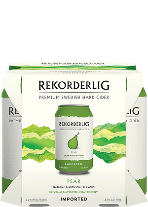 Rekorderlig Pear Cider 4 pack.    11.2 oz btl