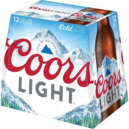 Coors light 2/12pk 12 oz BT.