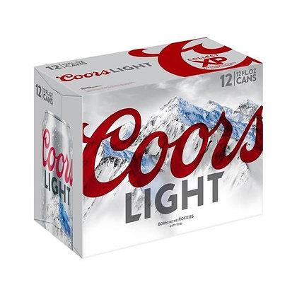 Coors light 12pk cans