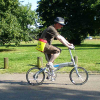 Riding the crosshad folding bike